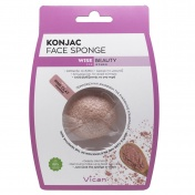Vican Wise Beauty Konjac Face Sponge with Pink Clay Powder