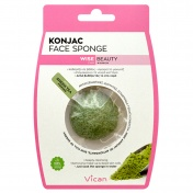 Vican Wise Beauty Konjac Face Sponge with Green Tea Powder