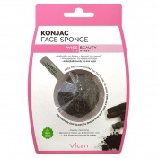 Vican Wise Beauty Konjac Face Sponge with Bamboo Charcoal Powder