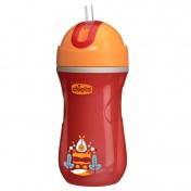 Chicco Sport Cup Κύπελλο Θερμός με Καλαμάκι Χρώμα Πορτοκαλί 14m+ 266ml