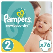 Pampers New Baby Dry Jumbo Pack No 2 (3-6Kg) 76τμχ