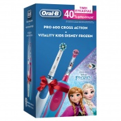 Oral B Promo Pack Ηλεκτρική Oδοντόβουρτσα Pro 600 Cross Action & Vitality Kids Disney Frozen 3+