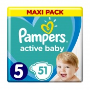Pampers Active Baby No 5 Maxi Pack 11-16Kg 51τμχ