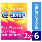 Durex Πακέτο 2 Durex Pleasuremax 6τμχ