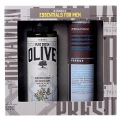 Korres Set Pure Greek Olive Αφρόλουτρο Κέδρος 250ml & Aftershave Balm Καλέντουλα & Ginseng 200ml