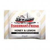 Fisherman's Friend Honey & Lemon Καραμέλες με Γεύση Μέλι, Λεμόνι & Μενθόλη Χωρίς Ζάχαρη 25g