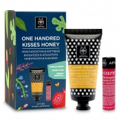 Apivita Promo Pack One Handred Kisses Honey Κρέμα Χεριών 50ml & Lip Care Pomegranate 4.4g