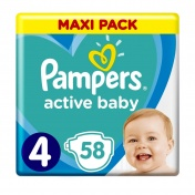 Pampers Active Baby No 4 Maxi Pack 9-14 kg 58τμχ