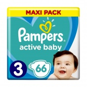 Pampers Active Baby No 3 Maxi Pack 6-10 kg 66τμχ
