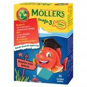 Moller's Omega 3 για Παιδιά 36 Ζελεδάκια Ψαράκια Φράουλα