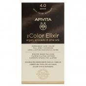Apivita My Color Elixir Μόνιμη βαφή Μαλλιών N4,0 Φυσικό καστανό
