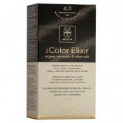 Apivita My Color Elixir Μόνιμη βαφή Μαλλιών N4,11 Καστανό έντονο