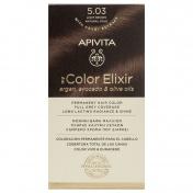Apivita My Color Elixir Μόνιμη βαφή Μαλλιών N5,03 Καστανό ανοιχτό φυσικό μελί