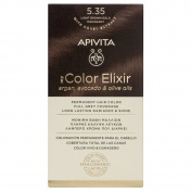 Apivita My Color Elixir Μόνιμη βαφή Μαλλιών N5,35 Καστανό ανοιχτό μελί μαονί