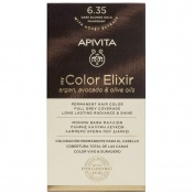 Apivita My Color Elixir Μόνιμη βαφή Μαλλιών N6,35 Ξανθό σκούρο μελί μαονί