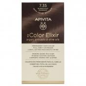 Apivita My Color Elixir Μόνιμη βαφή Μαλλιών N7,35 Ξανθό μελί μαονί