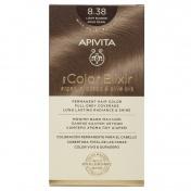 Apivita My Color Elixir Μόνιμη βαφή Μαλλιών N8,38 Ξανθό ανοιχτό μελί περλέ