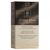 Apivita My Color Elixir Μόνιμη βαφή Μαλλιών N6,78 Ξανθό σκούρο μπεζ περλέ