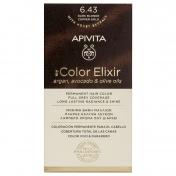 Apivita My Color Elixir Μόνιμη βαφή Μαλλιών N6,43 Ξανθό σκούρο χάλκινο μελί