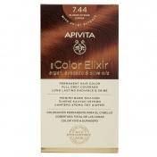 Apivita My Color Elixir Μόνιμη βαφή Μαλλιών N7,44 Ξανθό έντονο χάλκινο