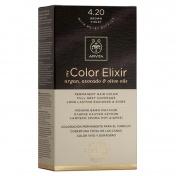 Apivita My Color Elixir Μόνιμη βαφή Μαλλιών  N4,20 Καστανό βιολετί