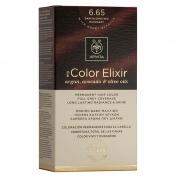 Apivita My Color Elixir Μόνιμη βαφή Μαλλιών N6,65 Έντονο κόκκινο