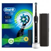 Oral B Pro 750 Black Edition & Bonus Travel Case