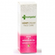 Trompetol Rose & Geranium Oil Face Hemp Cream 40ml
