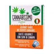 Cannabissimo Καφές με Σπόρους Κάνναβης 10 Κάψουλες 50gr