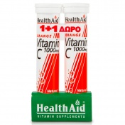 Health aid Vitamin C 1000mg Orange 20 Eff Tabs 1+1 ΔΩΡΟ