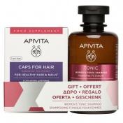 Apivita Promo Pack Healthy Hair & Nails 30caps με ΔΩΡΟ Τονωτικό Σαμπουάν Κατά της Τριχόπτωσης Για Γυναίκες 250ml