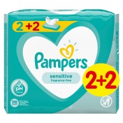 Pampers Baby Wipes Sensitive Μωρομάντηλα Οικονομική Συσκευασία 2+2 ΔΩΡΟ 208 Τμχ