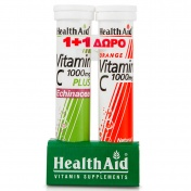 Health aid Promo Pack 1+1 Vitamin C 1000mg plus Echinacea 20eff.tabs με ΔΩΡΟ Vitamin C 1000mg 20eff.tabs