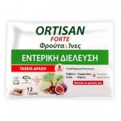Ortis Ortisan Forte Fruits & Fibres 12 Φρουτοκύβοι