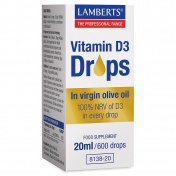 Lamberts Vitamin D3 Drops 20ml 600drops
