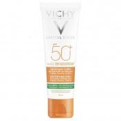Vichy Capital Soleil Mattifying 3in1 SPF50+  Φροντίδα κατά της Λιπαρότητας με Αντηλιακή Προστασία 50ml