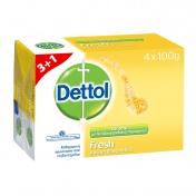 Dettol Σαπούνι Fresh 4x100gr 3+1 ΔΩΡΟ