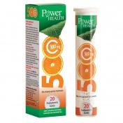 Power Health Vitamin C 500mg με γεύση Πορτοκάλι 20 eff. tabs