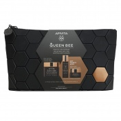 Apivita Promo Pack Queen Bee Κρέμα Ημέρας Πλούσιας Υφής 50ml και ΔΩΡΟ Κρέμα Νύχτας 15ml & Ορός 10ml σε Συλλεκτικό Necessaire
