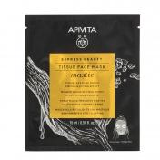 Apivita Tissue Face Mask Mastic για Σύσφιξη & Αίσθηση Lifting με Μαστίχα