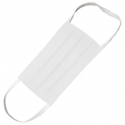 Hand M Μάσκα Πολλαπλών Χρήσεων Υφασμάτινη 100% Βαμβακερή 2 Στρώσεων Λευκή 1τμχ.