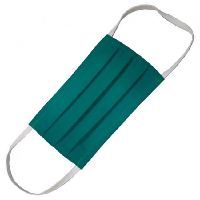 Μάσκα Πολλαπλών Χρήσεων Υφασμάτινη 100% Βαμβακερή 2 Στρώσεων Πράσινη 1τμχ.