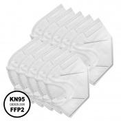 Μάσκα KN95 Υψηλής Προστασίας FFP2 Λευκή 10τμχ