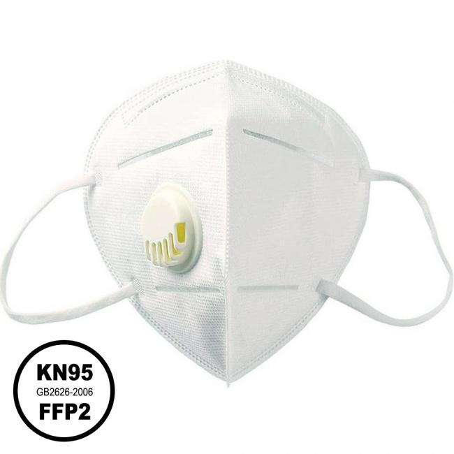 Μάσκα KN95 Υψηλής Προστασίας FFP2 με Βαλβίδα Εκπνοής 1τμχ
