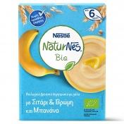 Nestle Naturnes Bio Βιολογικά Δημητριακά με Γάλα με Σιτάρι & Βρώμη και Μπανάνα 200gr