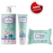 Pharmasept Promo Pack Baby Mild Bath 1Lt + Soothing Cream 150ml + ΔΩΡΟ Soft Wipes 30τμχ