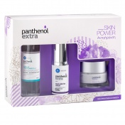 Panthenol Extra Promo Pack Skin Power Αντιγήρανση Face & Eye Cream 50ml, Face & Eye Serum 30ml & Micellar True Cleanser 3in1 100ml