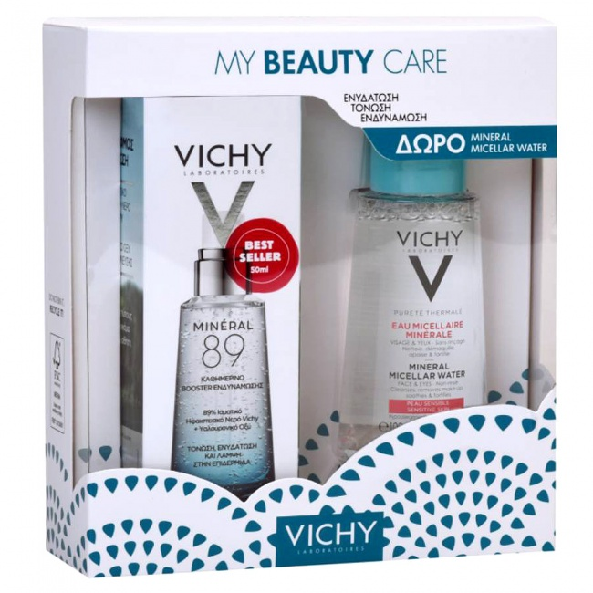 Vichy Promo Pack My Beauty Care Mineral 89 50ml & ΔΩΡΟ Purete Thermale Eau Micellaire Minerale 100ml