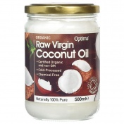 Optima Naturals Organic Raw Virgin Coconut Oil 500ml