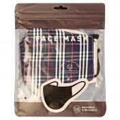 CLASSIC MASK Υφασμάτινη Μάσκα Πολλαπλών Χρήσεων (Μπλε Καρό)